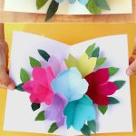 Pop Up Flowers Diy Printable Mother's Day Card   A Piece Of Rainbow   Free Printable Birthday Pop Up Card Templates