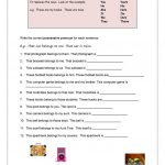 Possessive Pronouns Worksheet   Free Esl Printable Worksheets Made   Free Printable Possessive Nouns Worksheets