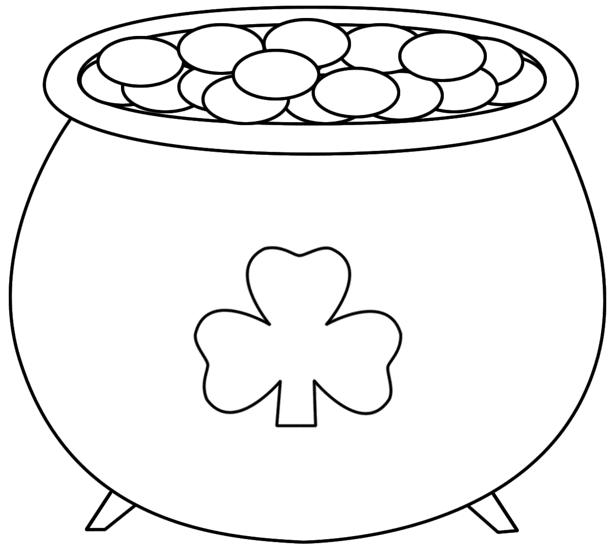Pot+Of+Gold+Printable | Pot Of Gold - Coloring Pages | Saint - Pot Of Gold Template Free Printable