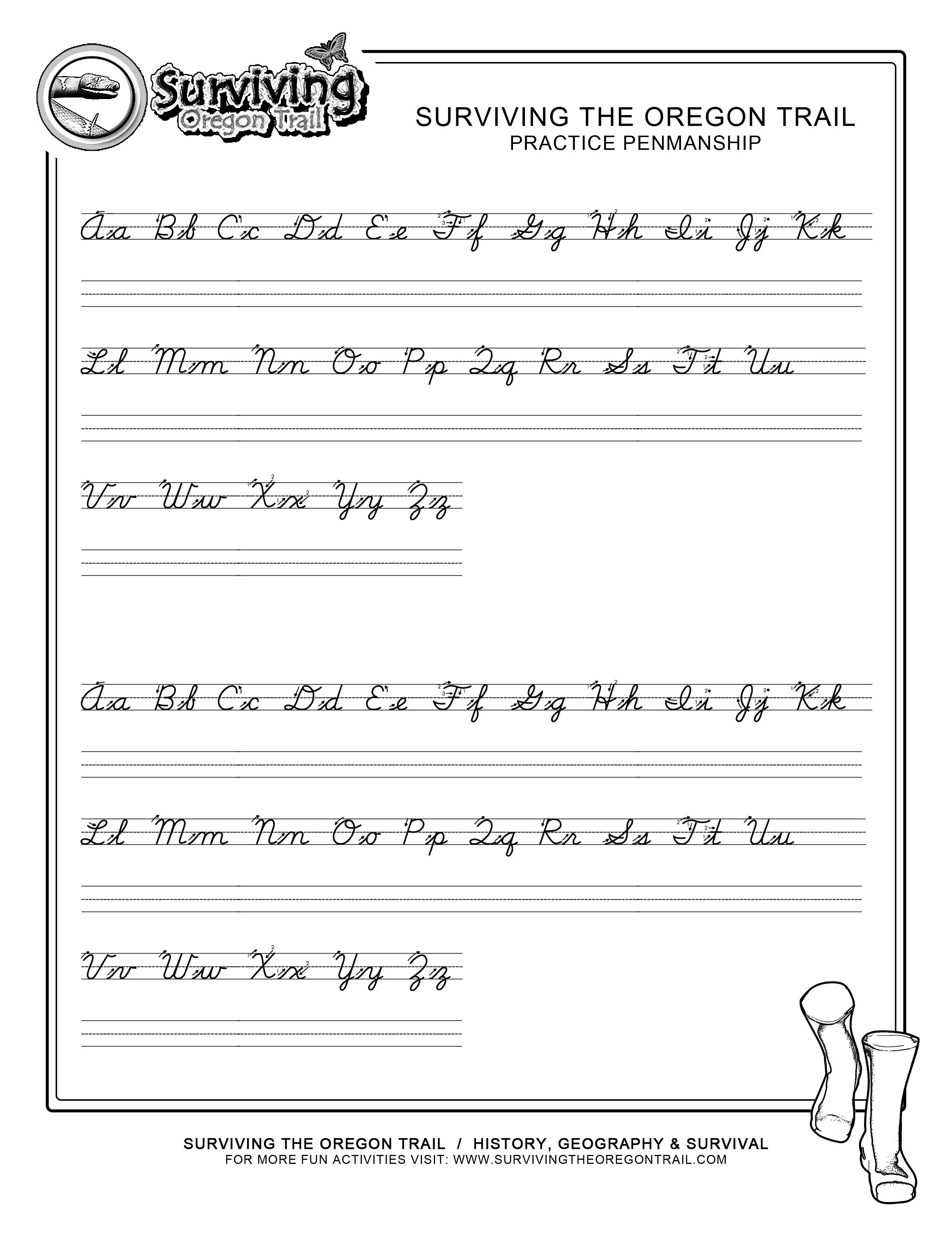 Practice Penmanship – Free Abc's Printable Cursive Writing Worksheet - Free Printable Cursive Handwriting Worksheets