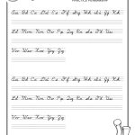 Practice Penmanship – Free Abc's Printable Cursive Writing Worksheet   Free Printable Worksheets Handwriting Practice