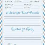 Prediction & Advice Cards   Printable Download   Blue & Gray Baby   Baby Prediction And Advice Cards Free Printable
