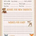 Prediction & Advice Cards   Printable Download   Forest Animals   Baby Prediction And Advice Cards Free Printable