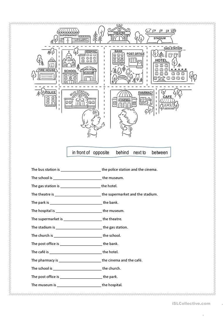 Prepositions Of Place Worksheet - Free Esl Printable Worksheets Made - Free Printable Esl Worksheets