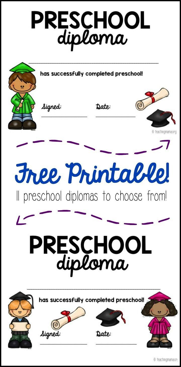 Preschool Graduation Diploma | Teaching Mama's Posts | Preschool - Preschool Graduation Diploma Free Printable