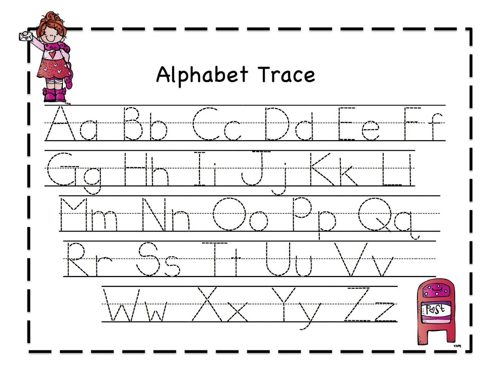 Preschool Printables: Valentine | February Ideas | Alphabet Tracing - Free Printable Preschool Worksheets Tracing Letters