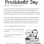 Presidents' Day (Free Worksheet) Updated | Squarehead Teachers   Free Printable Presidents Day Worksheets