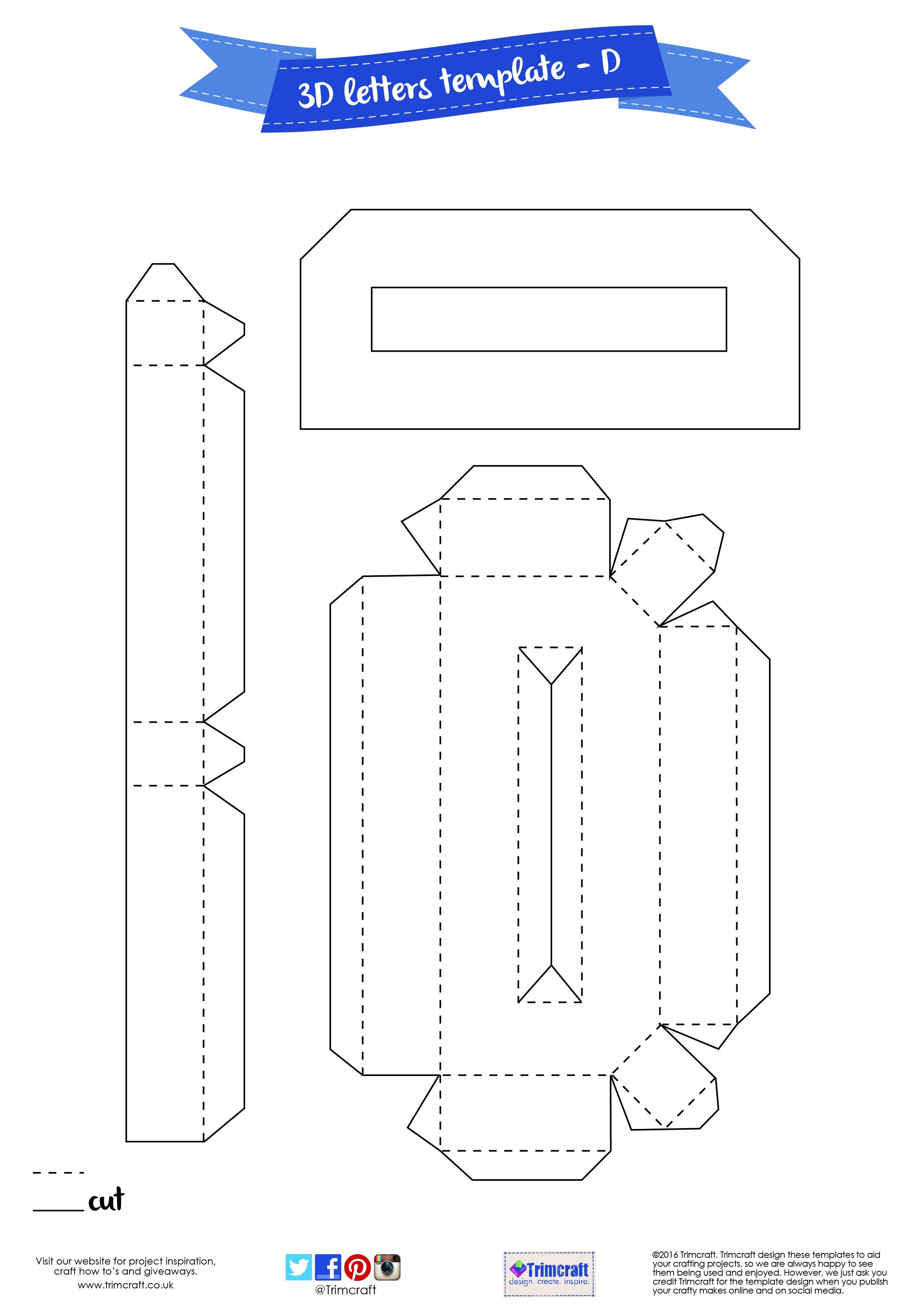 Pretty 3D Letter Templates Images. 3D Letter Templates Apextechnews - Free Printable 3D Letters