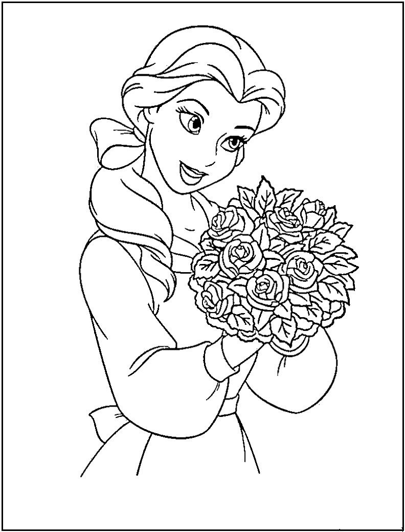 Princess Jasmine Coloring Pages Free Printable Princess Jasmine - Free Printable Princess Jasmine Coloring Pages
