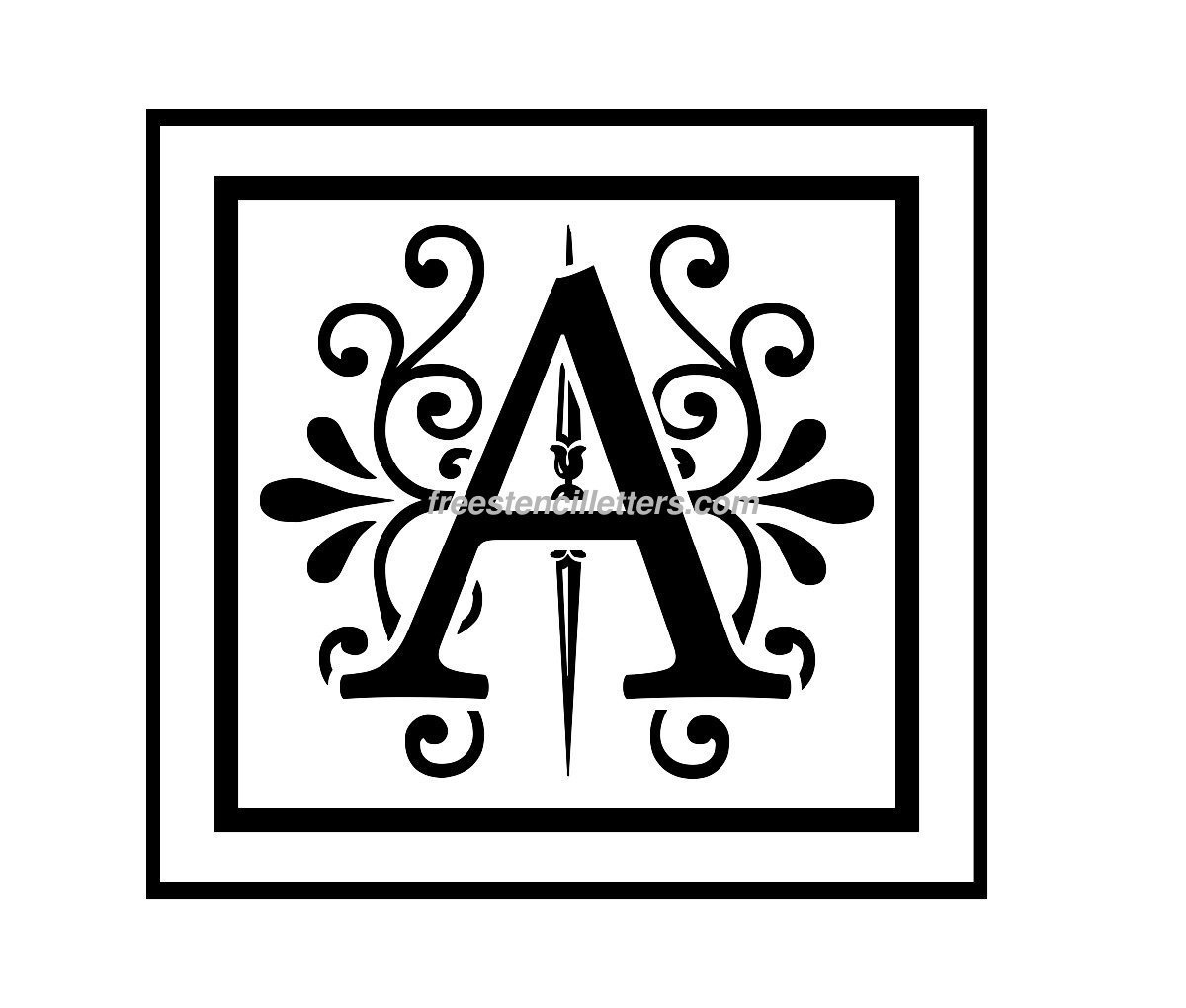 Print A Letter Stencil - Free Stencil Letters - Free Printable Alphabet Stencils To Cut Out