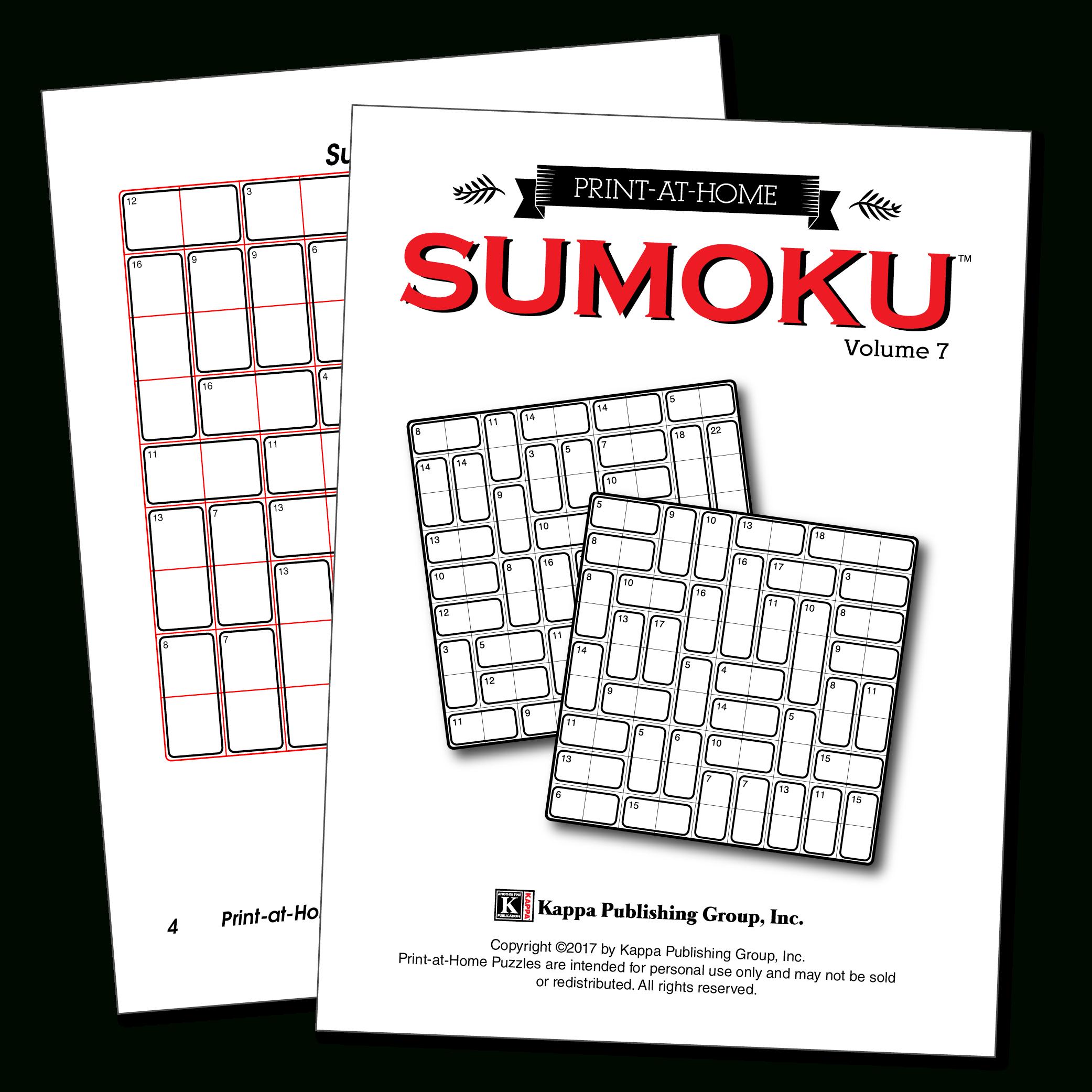 Print-At-Home Sumoku – Kappa Puzzles - Free Printable Variety Puzzles