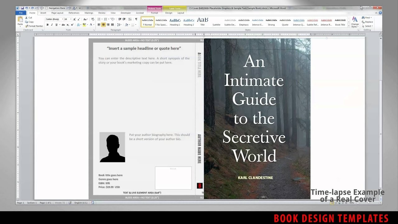 Print Book Cover Template For Word - Preview - Youtube - Book Cover Maker Free Printable