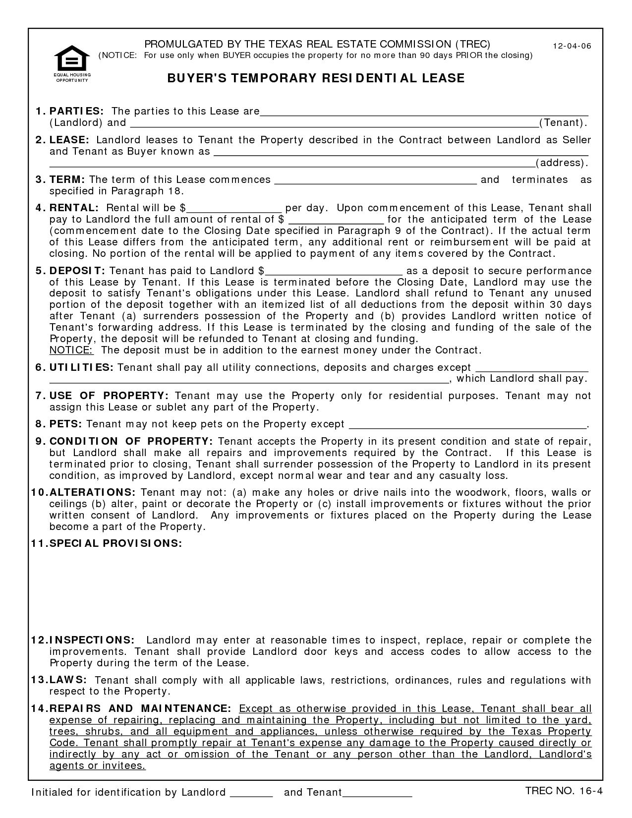 Print Free Printable Lease Agreement Texas - Id52092 Opendata - Free Printable Lease Agreement Texas