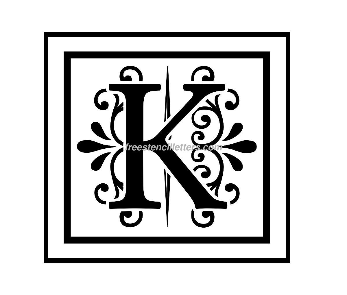 Print K Letter Stencil - Free Stencil Letters - Online Letter Stencils Free Printable
