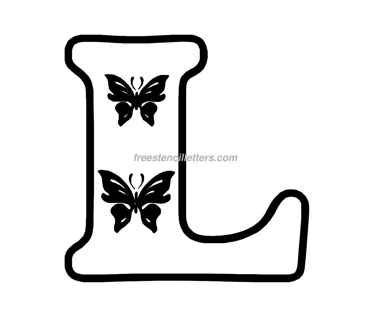 Print L Letter Stencil - Free Stencil Letters - Free Printable Alphabet Stencils To Cut Out