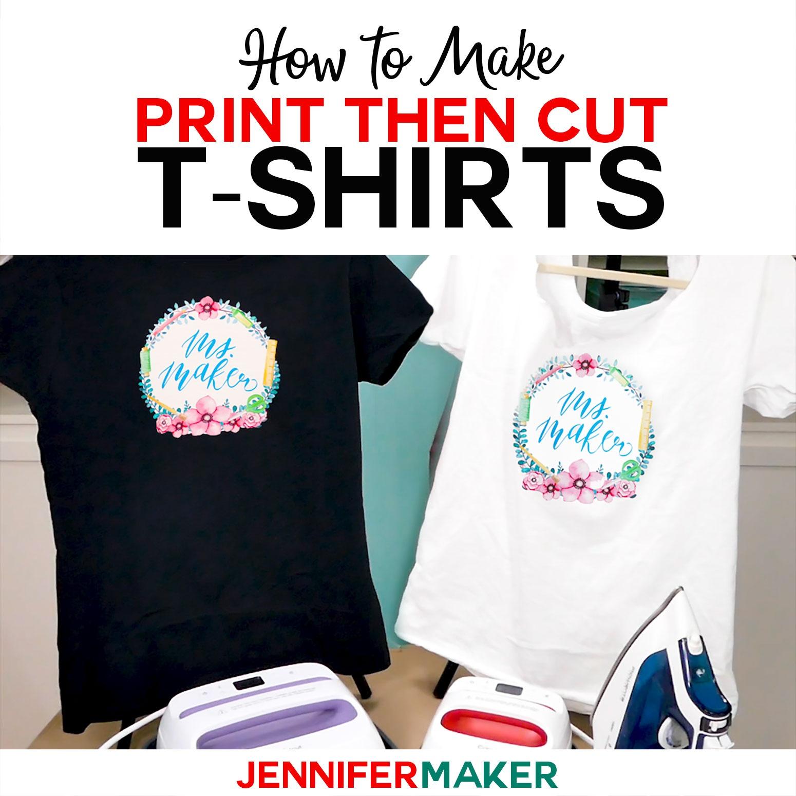 Print Then Cut Cricut Transfer T-Shirts - Jennifer Maker - Free Printable Christmas Iron On Transfers