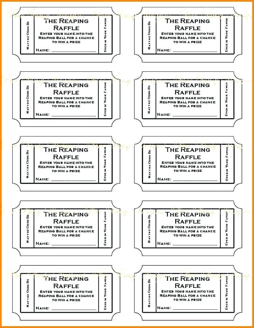 Print Tickets Free - Kaza.psstech.co - Diaper Raffle Template Free Printable