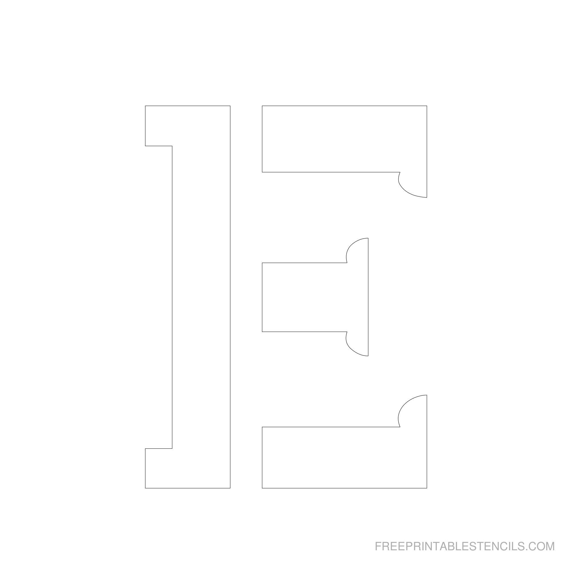 Printable 2 - 6 Inch Letter Stencils | Calligraphy Ideas | Letter - Free Printable 4 Inch Block Letters