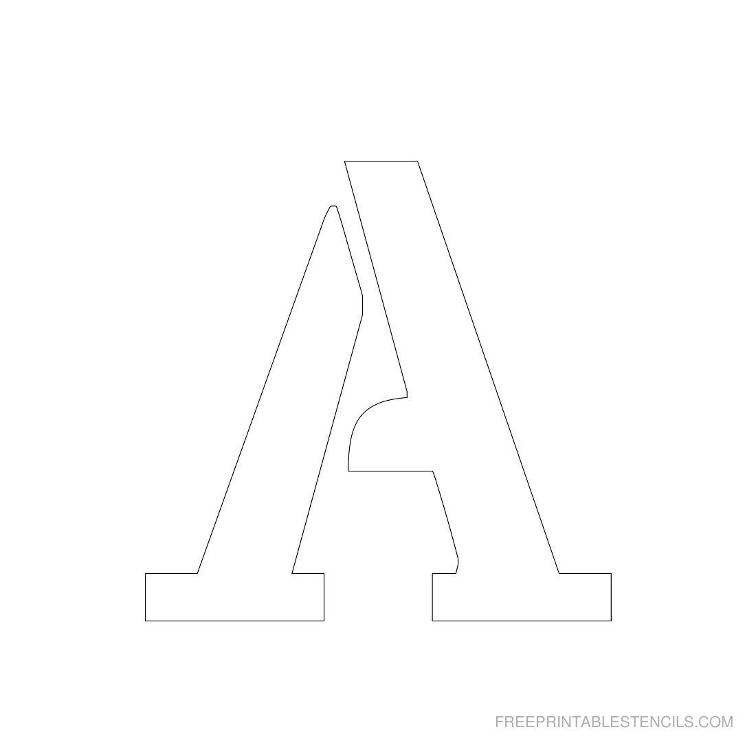 Printable 3 Inch Letter Stencil A--Has Full Alphabet | Typography - Free Printable 8 Inch Letters