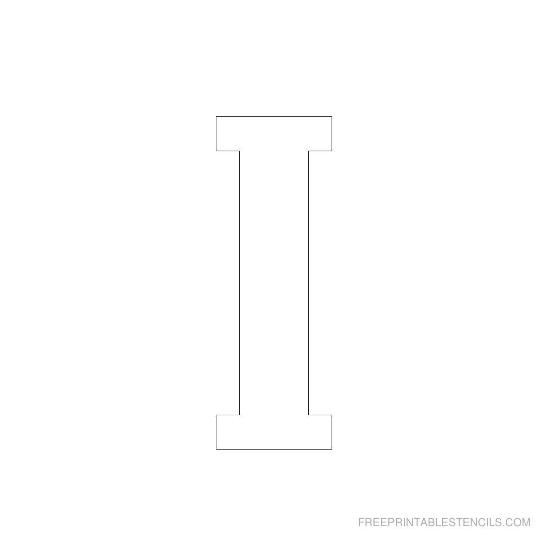 Printable 3 Inch Letter Stencil I | Projects To Try | Letter - Free Printable 3 Inch Number Stencils
