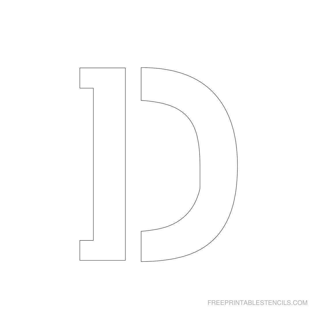 Printable 3 Inch Letter Stencils | Free Printables | Letter Stencils - Free Printable 3 Inch Number Stencils