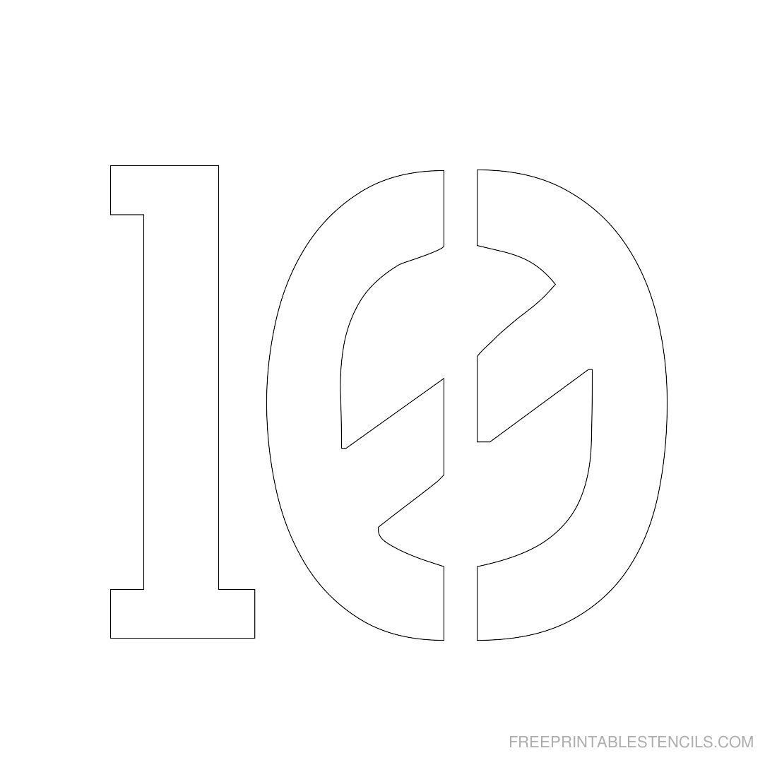 Printable 3 Inch Number Stencils 1 10 Free Com | Brody Boy | Number - Free Printable 3 Inch Number Stencils