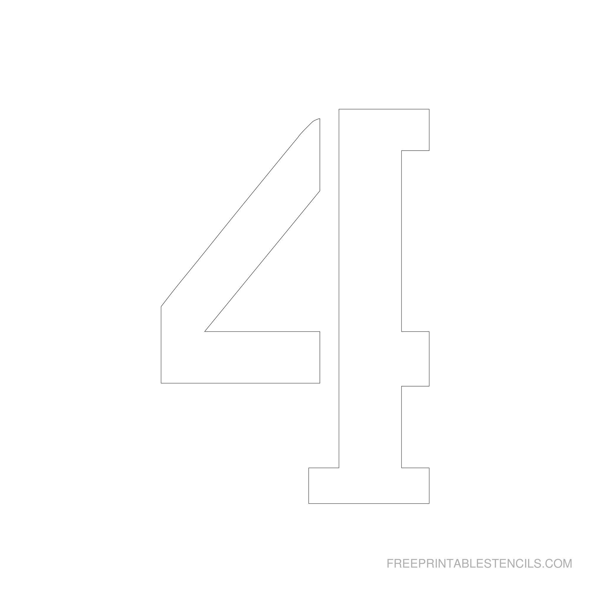 Printable 6 Inch Number Stencils 1-10 | Free Printable Stencils - Free Printable 3 Inch Number Stencils