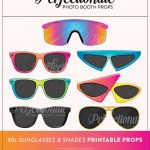 Printable 80S Sunglasses Photo Booth Prop Printable 80S   Etsy   80S Photo Booth Props Printable Free