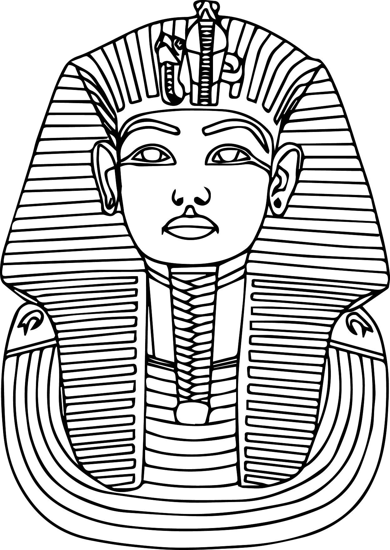Printable Ancient Egypt Pharaoh Coloring Pages | Education | Egypt - Free Printable Sarcophagus