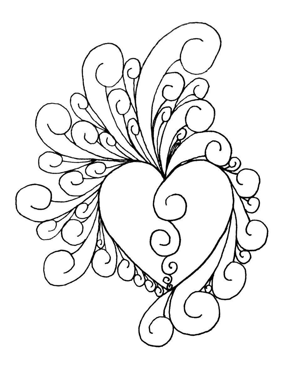Printable Art Work   Heart Of Intricate~Shinobitokobot On - Free Printable Quilling Patterns