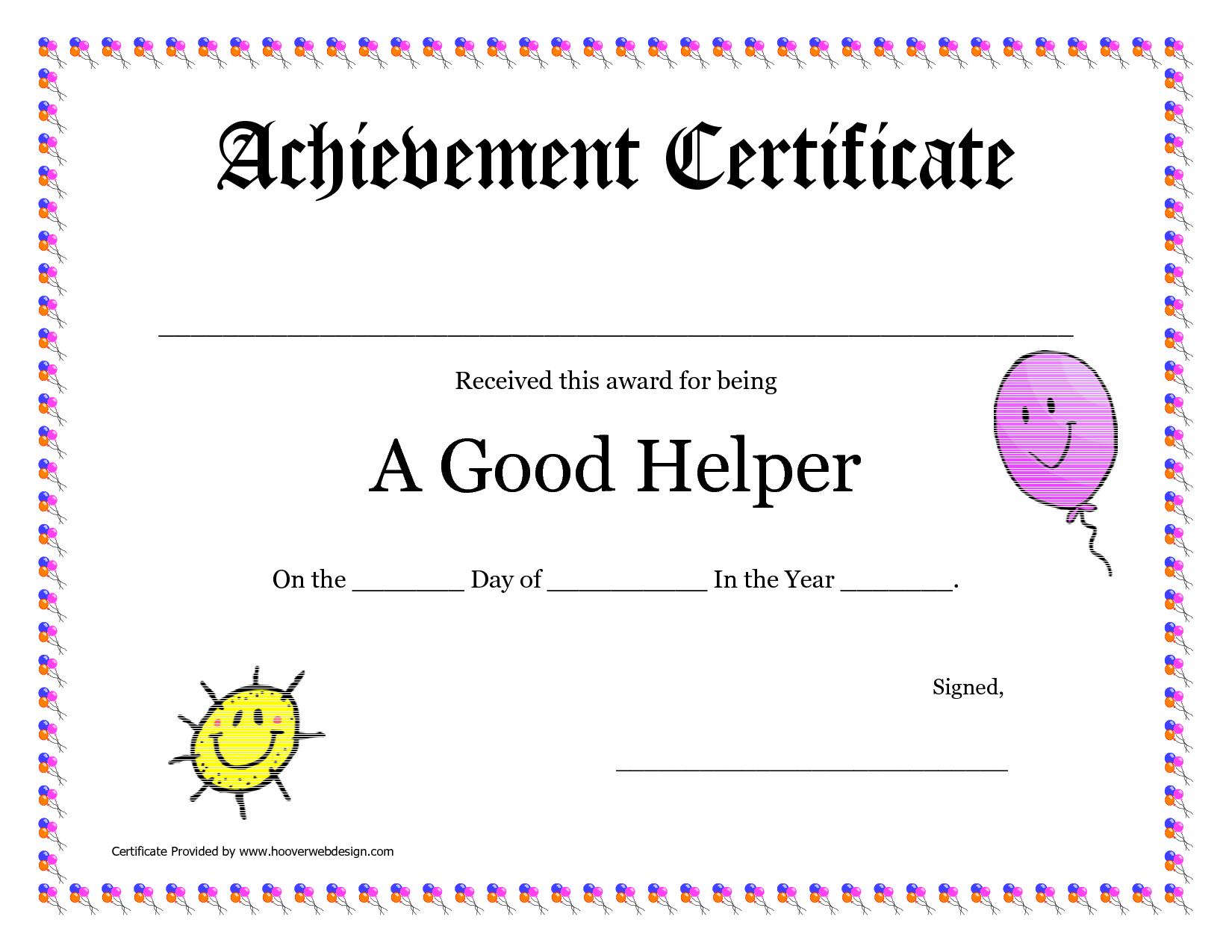 Printable Award Certificates For Teachers | Good Helper Printable - Free Printable Certificates For Teachers