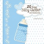 Printable Baby Shower Invitations   Free Baby Boy Shower Invitations Printable