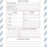 Printable Babysitter Notes + Diy Babysitter's Box   Wit & Wander   Babysitter Notes Free Printable