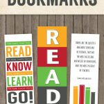 Printable Back To School Bookmarks   Teach   School, Elementary   Free Printable Back To School Bookmarks