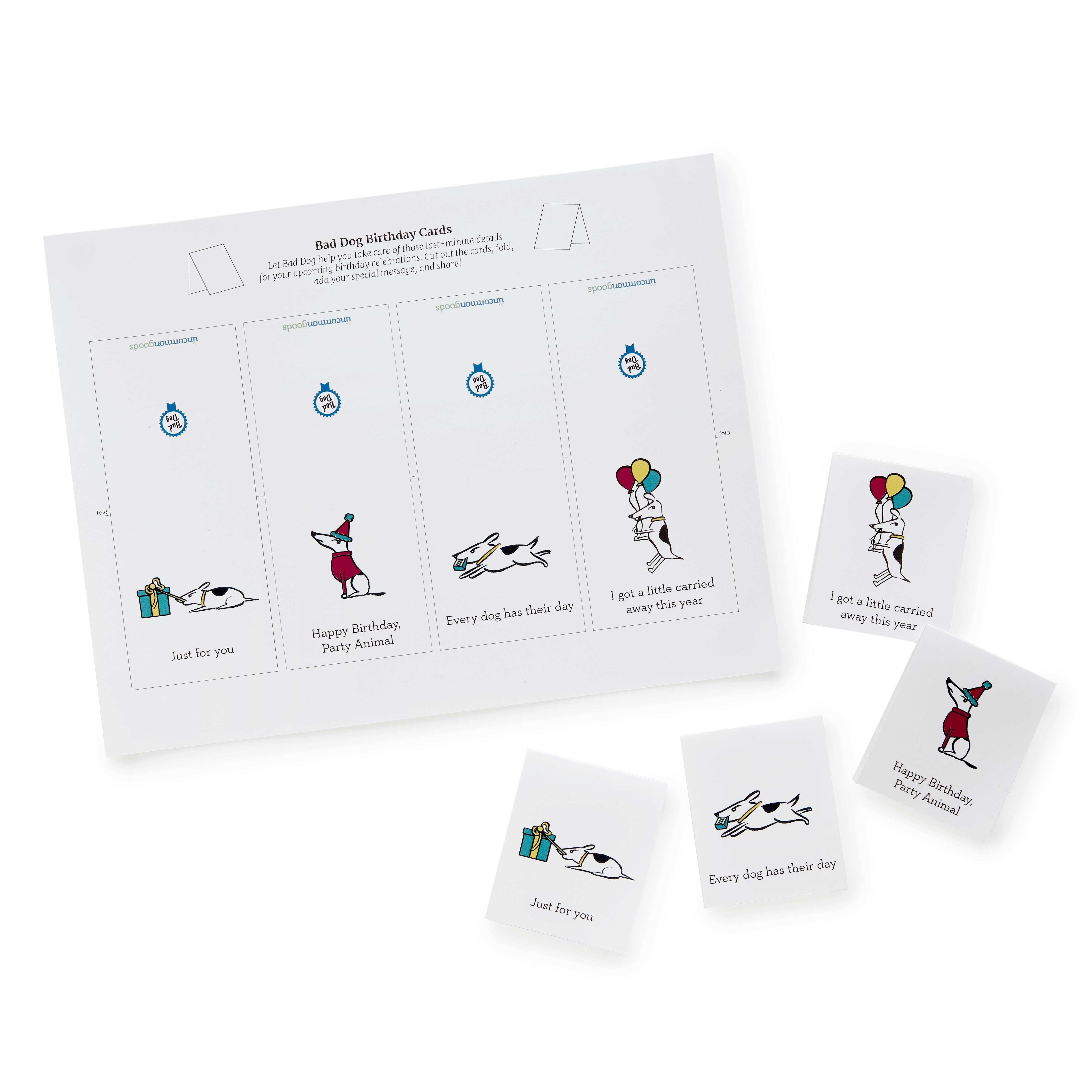 Printable Bad Dog Birthday Cards | Downloadable Cards | Uncommongoods - Free Printable Dr Who Birthday Card