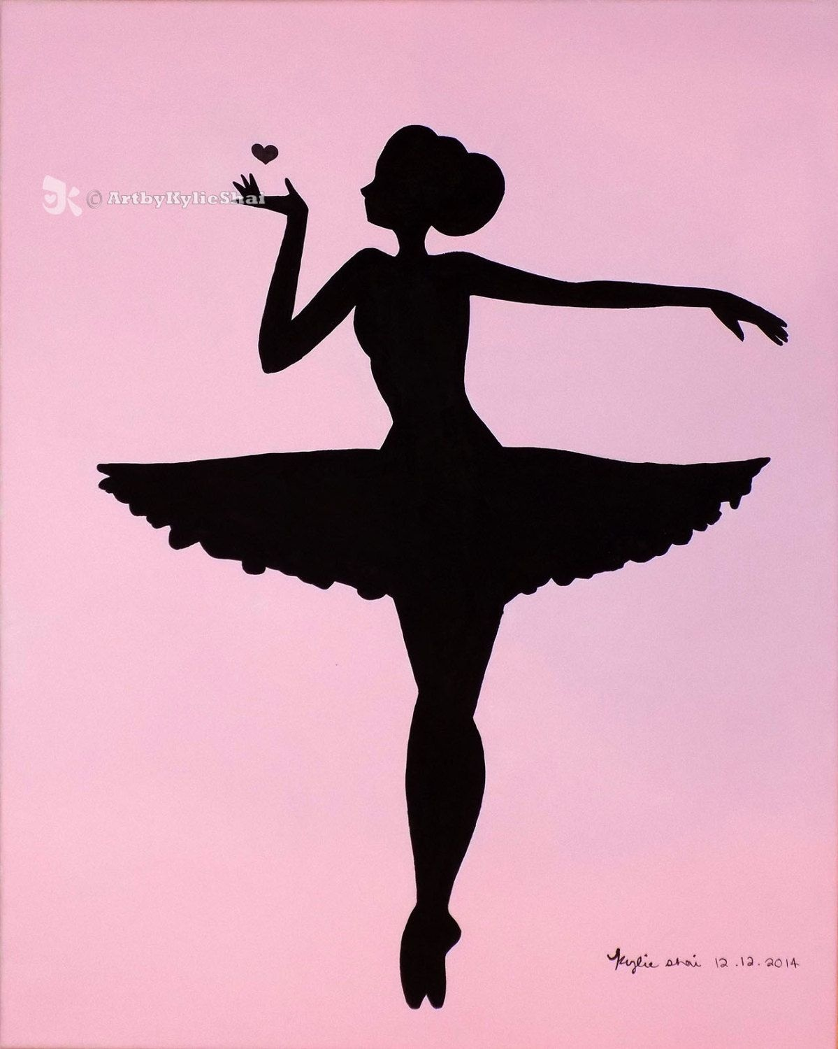 Printable (Ballerina Silhouette Pink)Artbykylieshai On Etsy | My - Free Printable Ballerina Silhouette