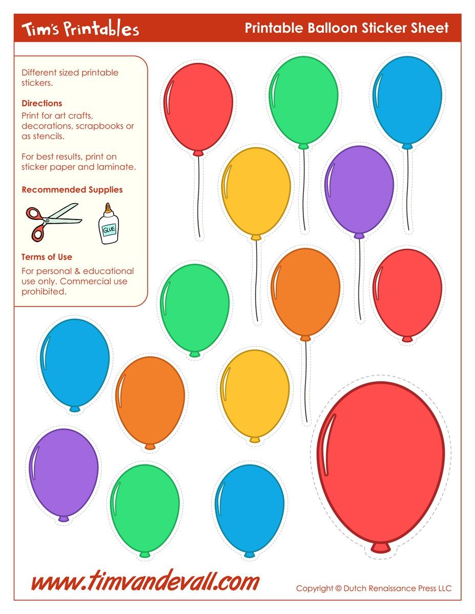 Printable Balloon Template   Birthday Printables - Free Printable Pictures Of Balloons