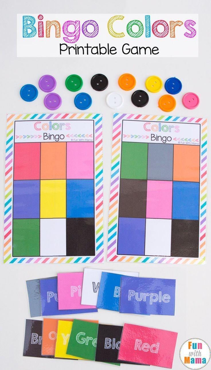 Printable Bingo Colors | Colors | Preschool Games, Preschool Colors - Free Printable Games For Toddlers