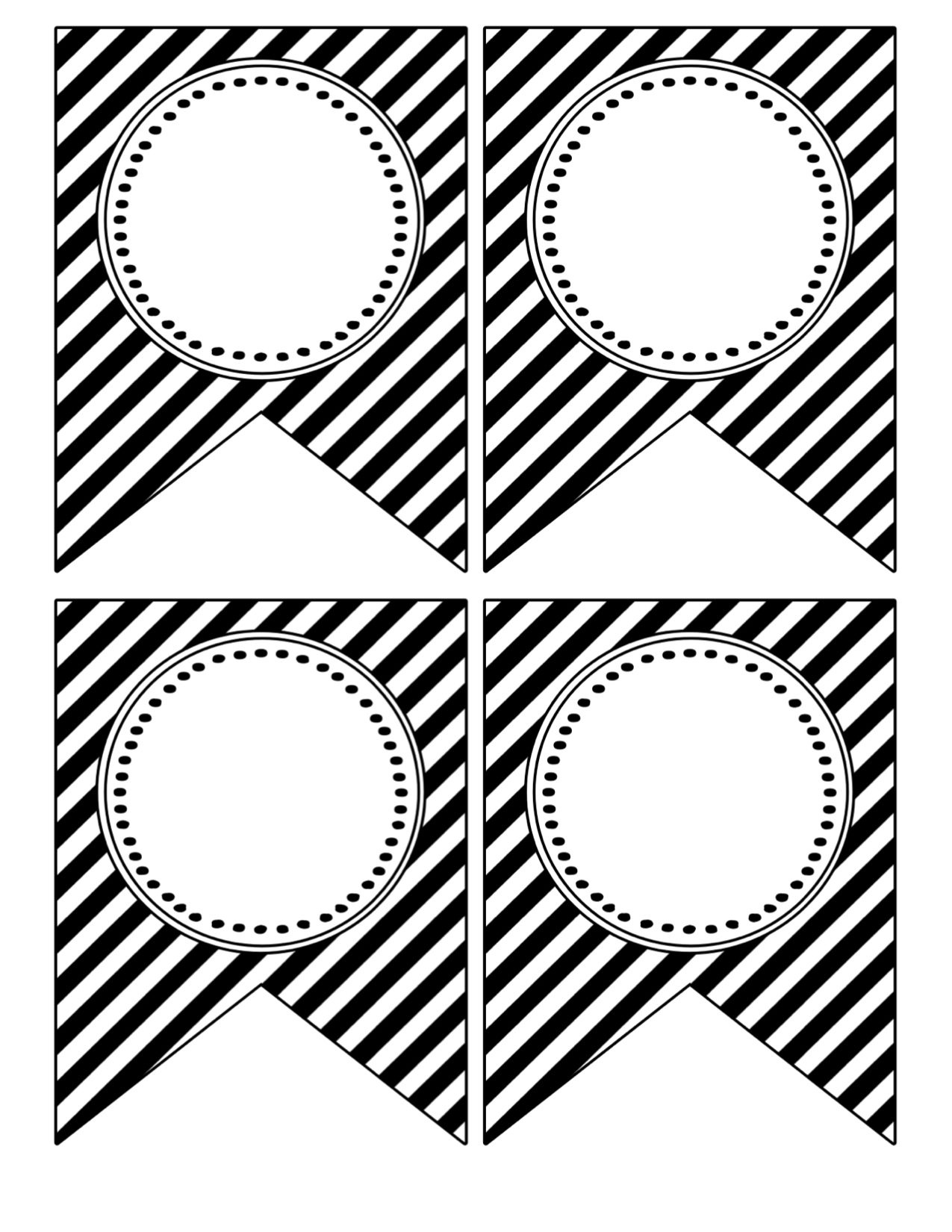 Printable Birthday Banner Template Black And White   Theveliger - Birthday Banner Templates Free Printable