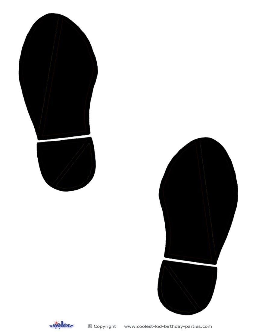 Printable Black Footprints - Coolest Free Printables | Bulletin - Free Printable Footprints