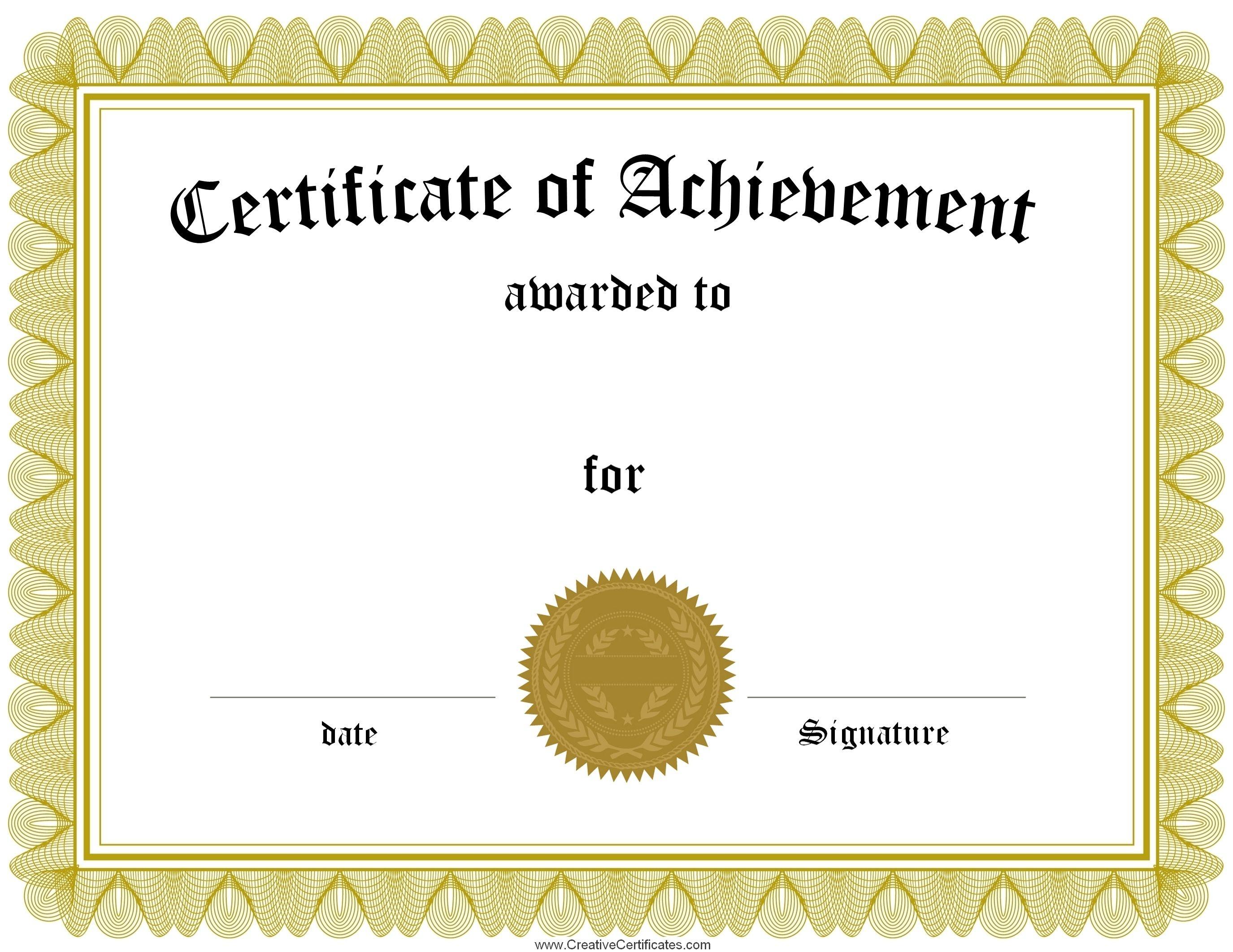 Printable Blank Certificate - Tutlin.psstech.co - Free Printable Blank Certificate Templates
