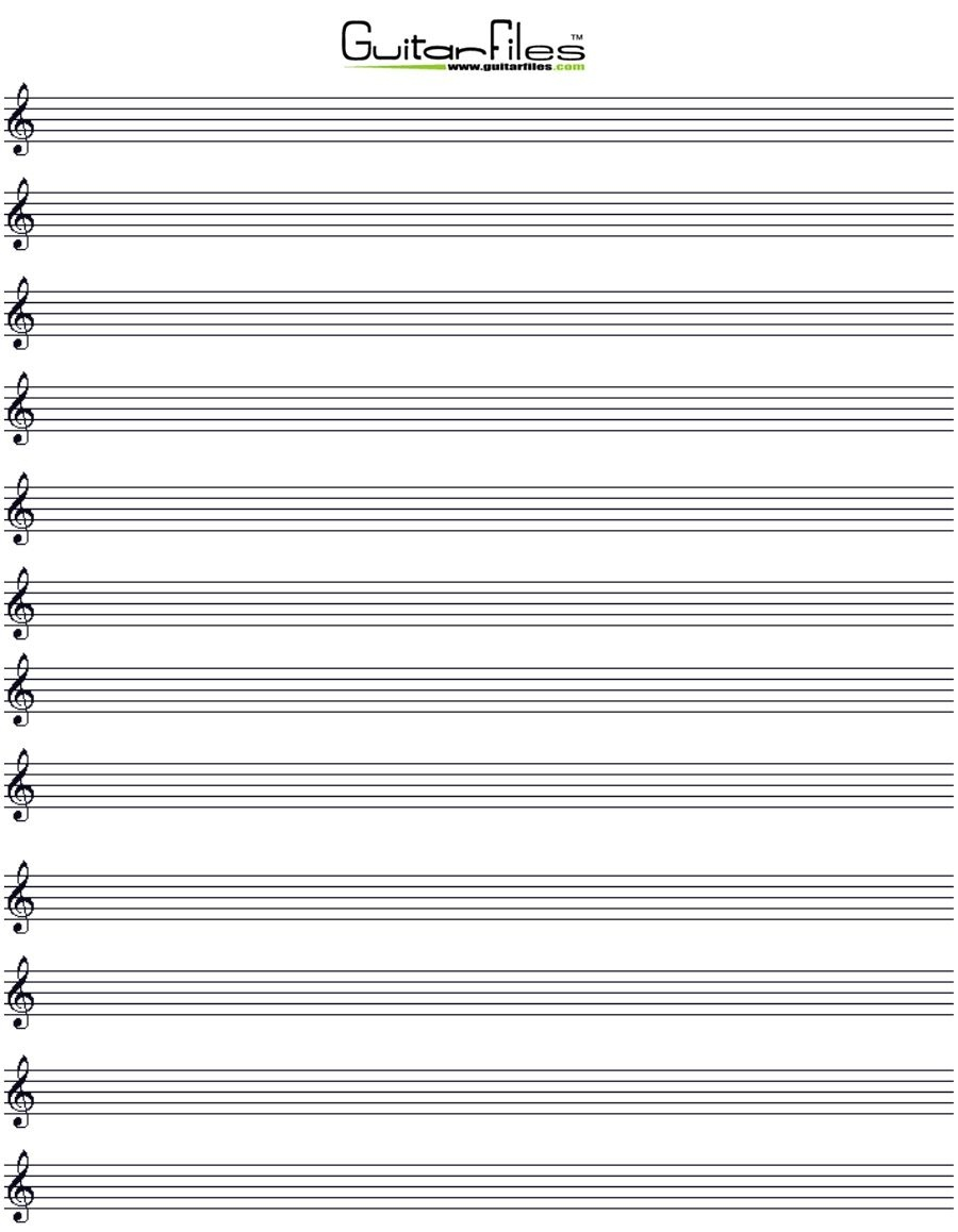 Printable Blank Music Staff Paper | Good Things To Know | Music - Free Printable Music Staff