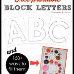 Printable Block Letters And Over 150 Ways To Fill Them!   The   Free Printable 4 Inch Block Letters