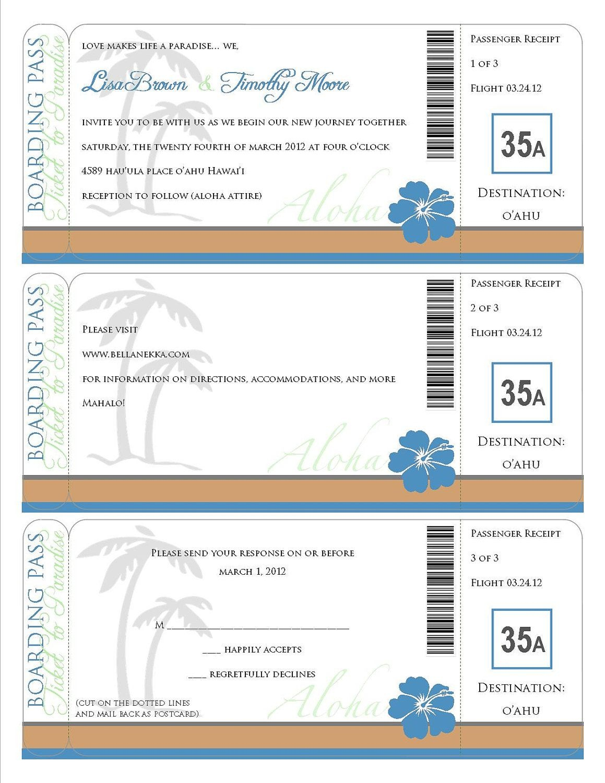 Printable Boarding Pass - Travel Information, Invitation, Save The - Free Printable Boarding Pass