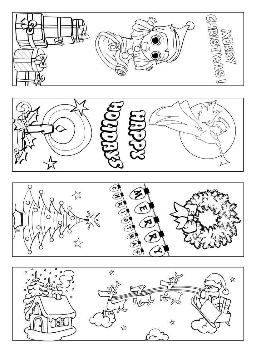 Printable Bookmarks To Color | To Make This Free Printable Black And - Free Printable Christmas Bookmarks To Color
