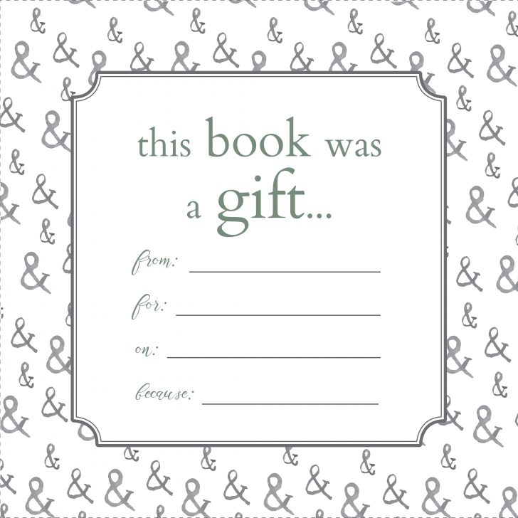 Free Printable Christmas Bookplates