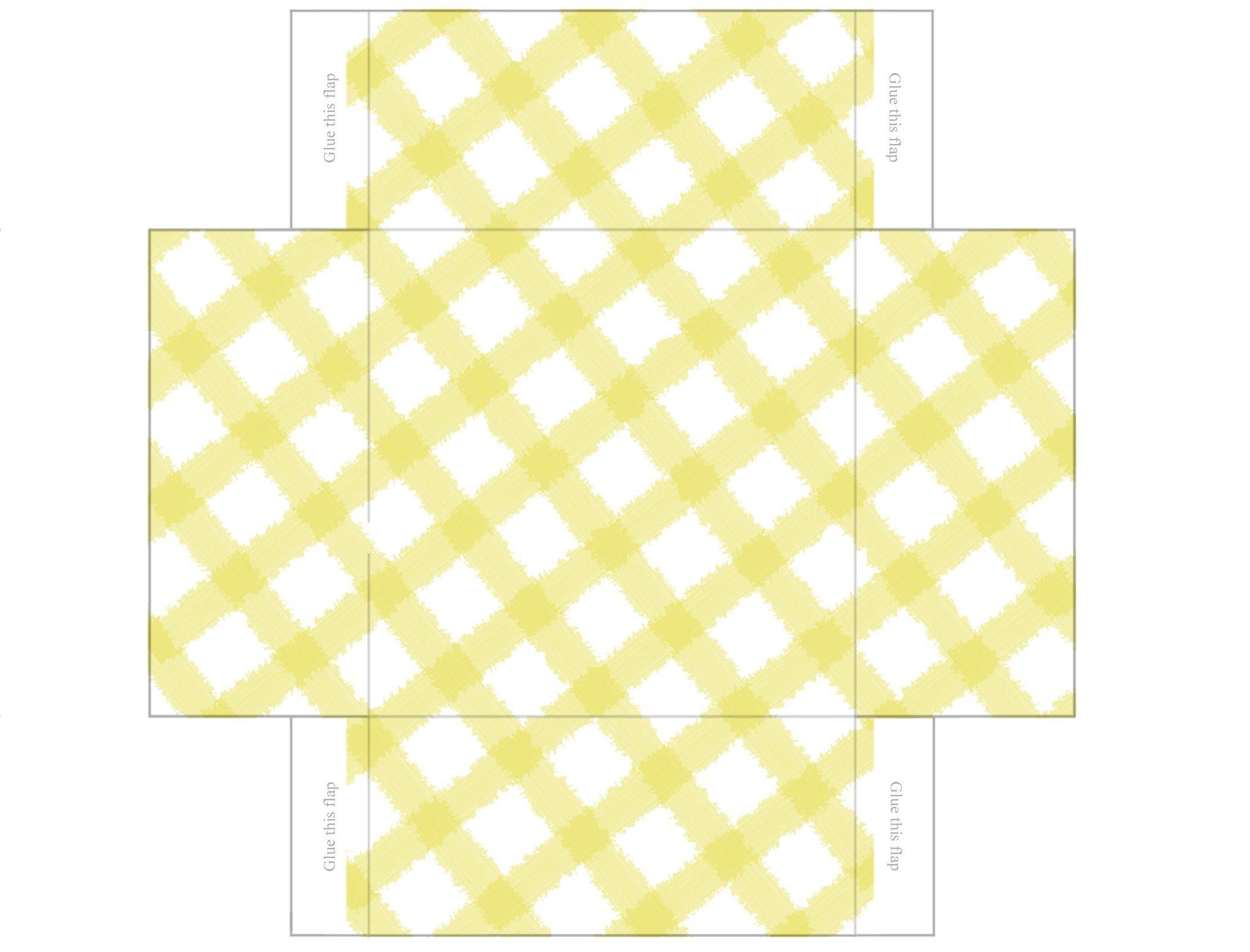 Printable Box Templates Free | Free Printable Templates: Gingham - Free Printable Gift Boxes