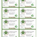 Printable Brownie Girl Scouts Cookie Sales Invoice And Thank You   Free Printable Eagle Scout Thank You Cards