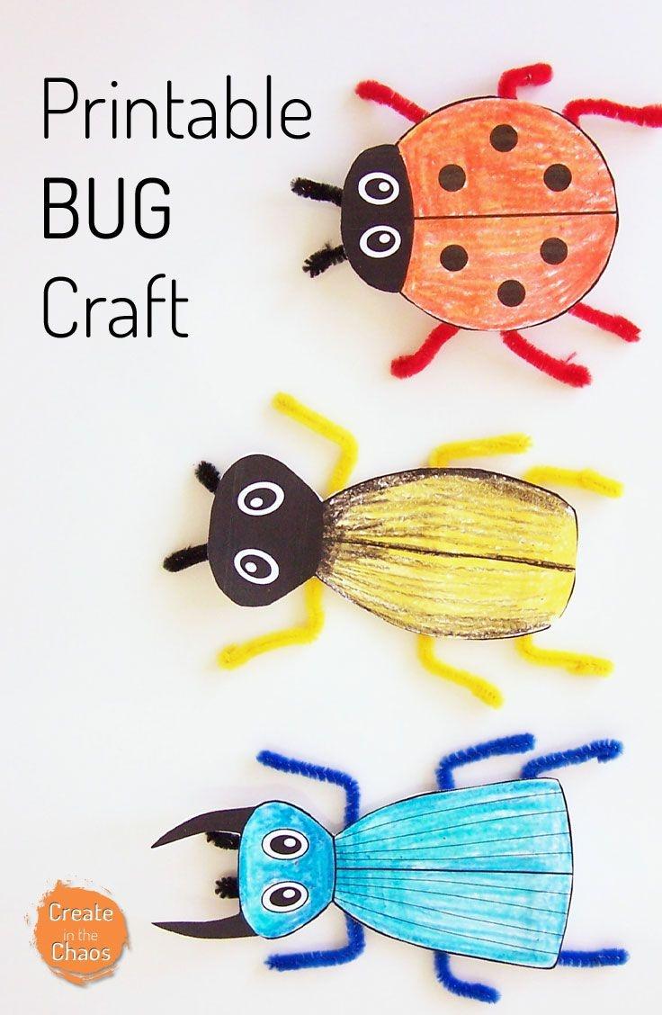 Printable Bug Craft | Kids Crafts And Activities | Bug Crafts - Free Printable Craft Activities