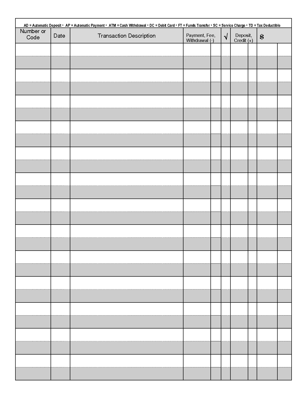 Printable Check Register - When You Are Searching For Coupons They - Free Printable Blank Check Register Template